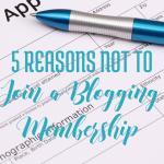 5 reasons not to join a blogging membership via handprintlegacy.com