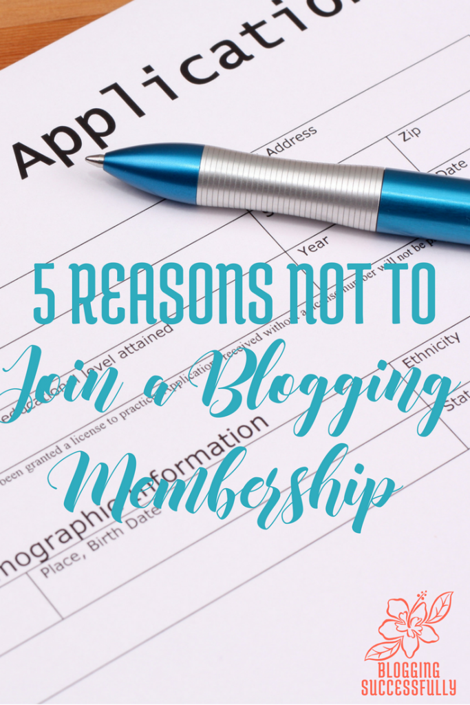 5 reasons not to join a blogging membership via bloggingsuccessfully.com