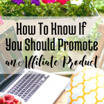 How to Know if You Should Promote an Affiliate Product via bloggingsuccessfully.com