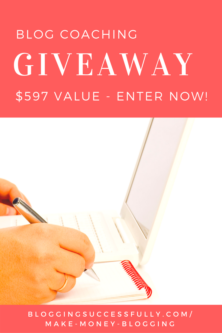 blog coaching giveaway via bloggingsuccessfully.com