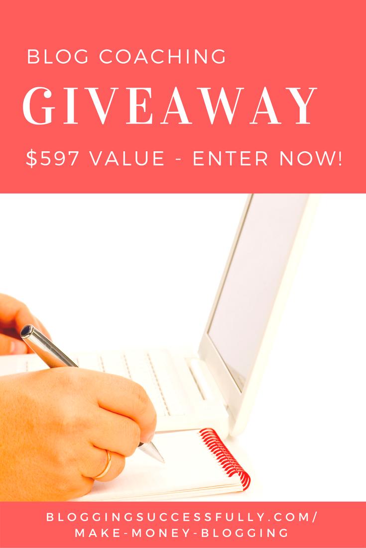blog coaching giveaway via bloggingsuccessfully.com