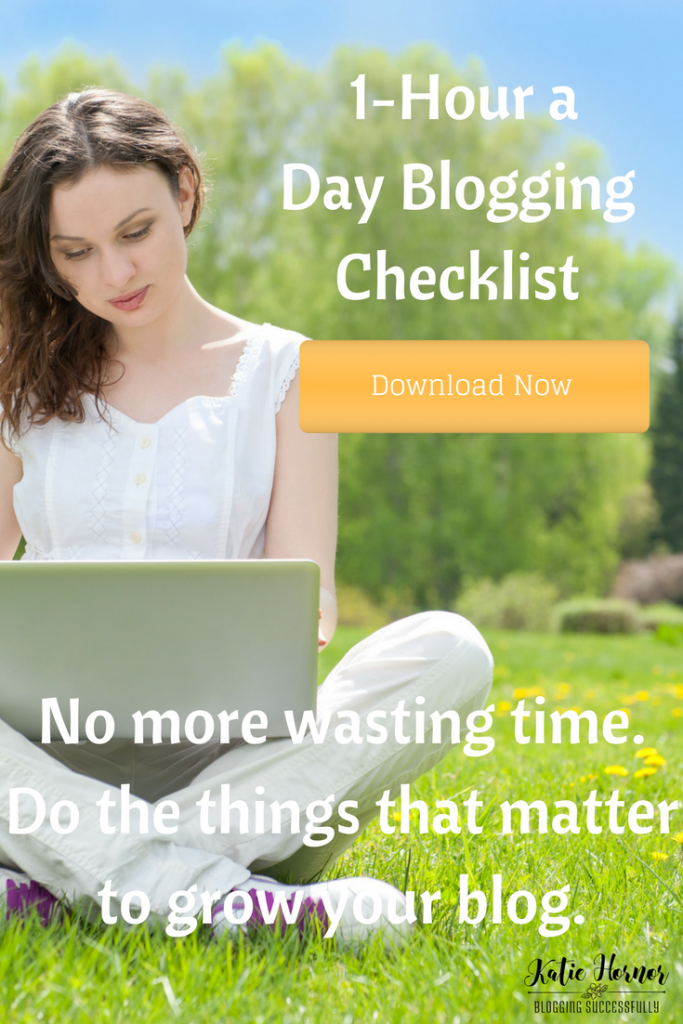 1 hour a day blogging plan