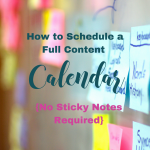 How to schedule a full content calendar. ForYourSuccessPodcast.com #46