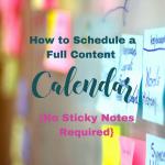 How to schedule a full content calendar. ForYourSuccessPodcast.com #46