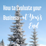 How to EVALUATE your business at year's end: A step by step guide, by bloggingsuccessfully.com