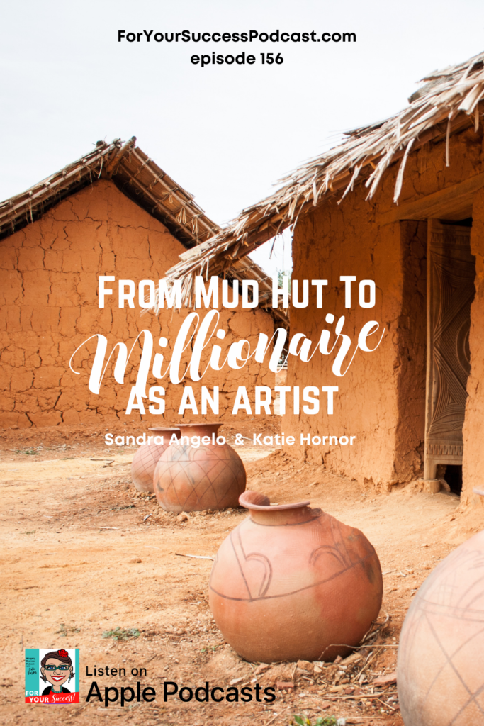 mud hut to millionaire with mud huts and clay pots in background