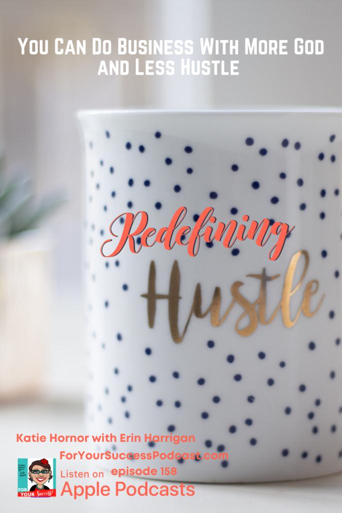 redefining hustle mug with glitter