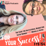 marketing trend podcast cover with Michelle Pippin and Katie Hornor