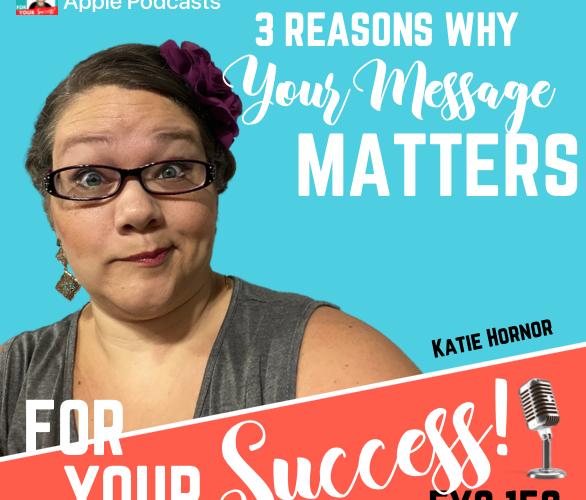 Biblical entrepreneur mindset Katie Hornor with blue background