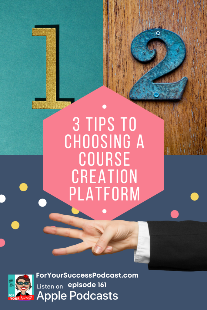 course creation technology 3 tips